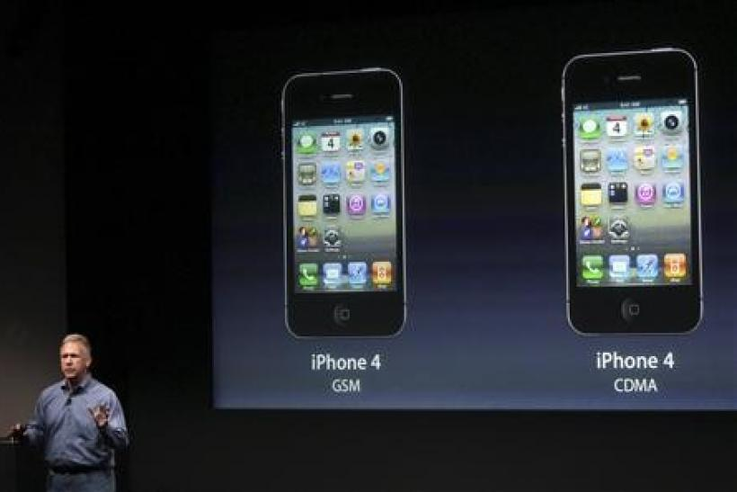 Philip Schiller, Apple's senior vice president of Worldwide Product Marketing, speaks about the iPhone 4S at Apple headquarters in Cupertino, California