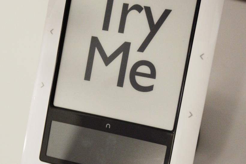 The Nook eReader is seen on display at a Best Buy store in New York