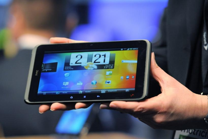 Sprint's new HTC Evo View 4G tablet is unveiled at the International CTIA wireless industry conference, at the Orange County Convention Center in Orlando
