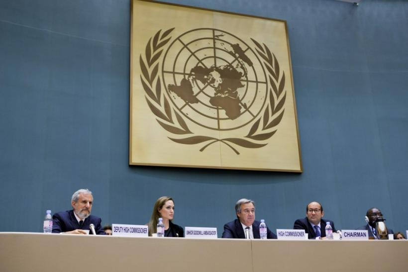 UNHCR Goodwill Ambassador Angelina Jolie attends an annual meeting of UNHCR's governing executive committee in Geneva