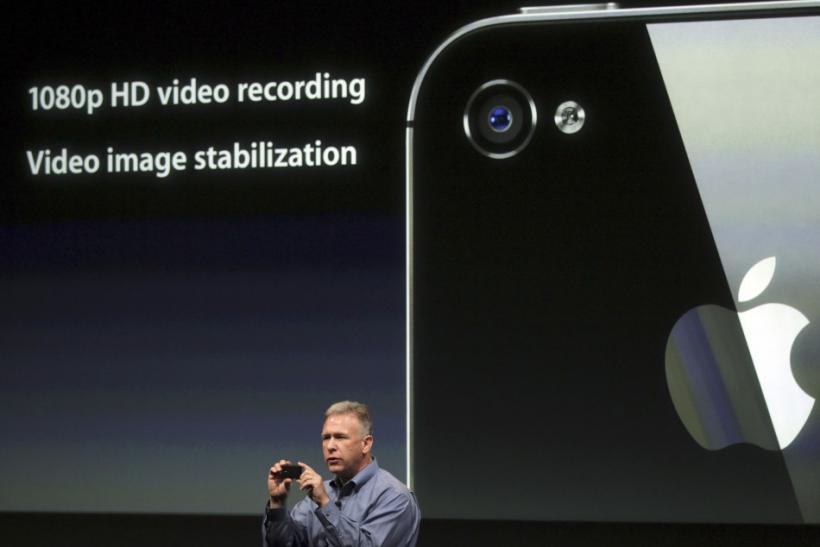 Philip Schiller, Apple's senior vice president of Worldwide Product Marketing, speaks about the HD video on the iPhone 4S at Apple headquarters in Cupertino, California