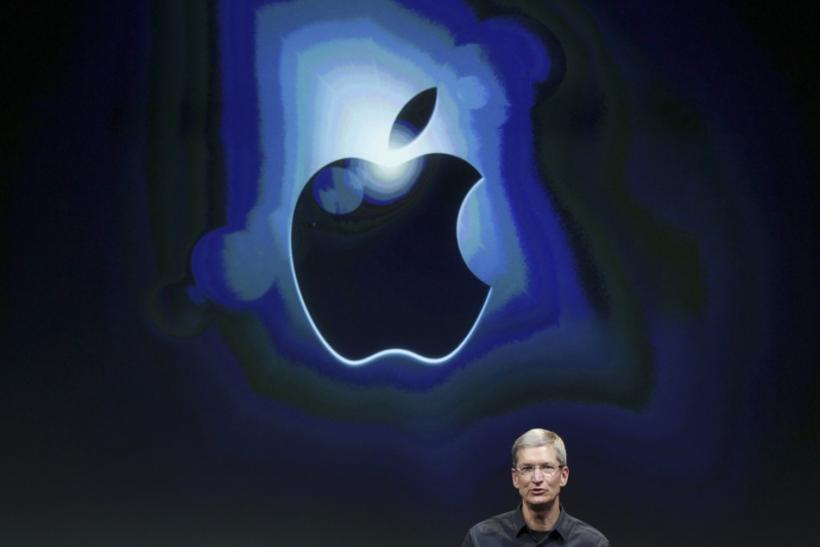 Apple CEO Tim Cook speaks about the iPhone 4S at Apple headquarters in Cupertino, California