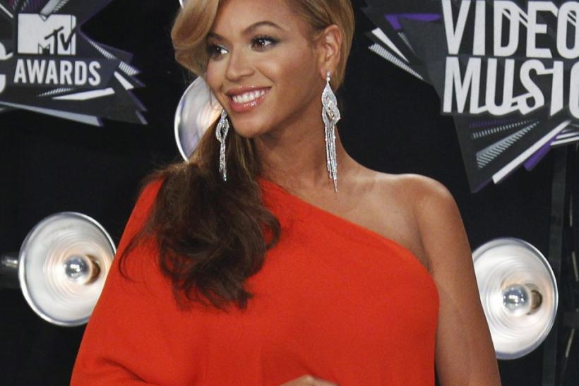 Singer Beyonce poses at the 2011 MTV Video Music Awards in Los Angeles