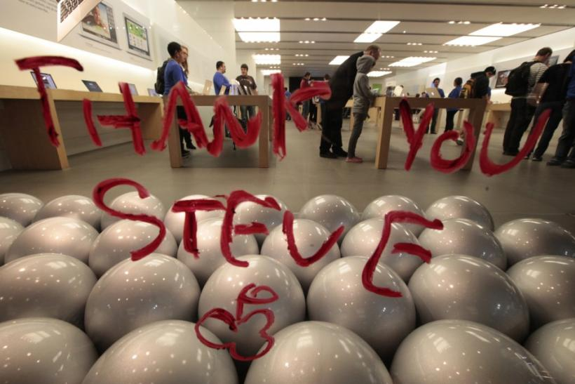 Steve Jobs Apple Store Tribute