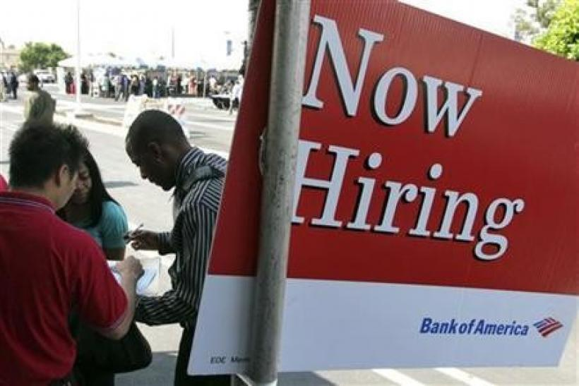 U.S. job gains ease recession fears but still weak
