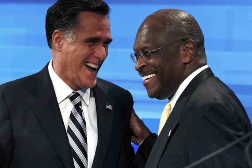 Mitt Romney and Herman Cain