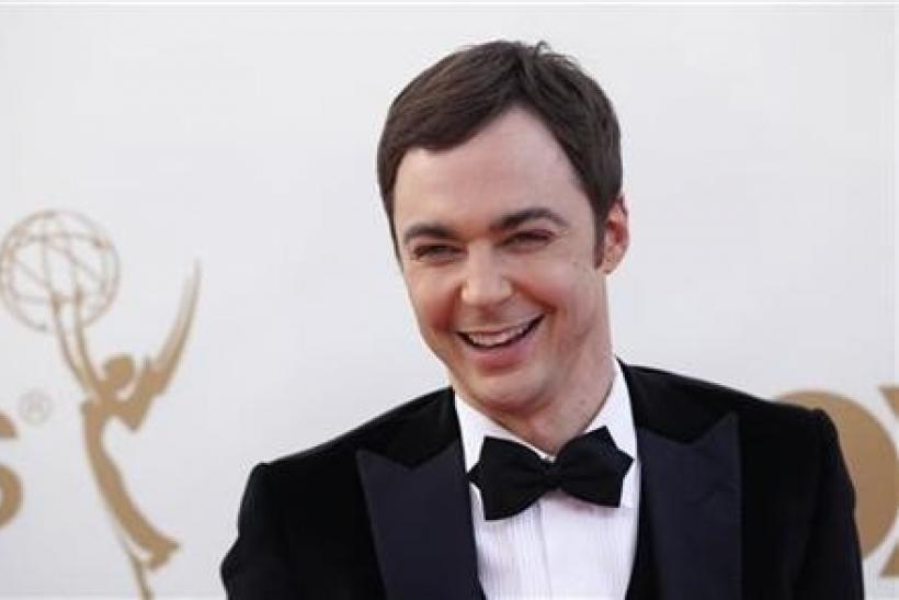 Actor Jim Parsons from television series ''Big Bang Theory'' arrives at the 63rd Primetime Emmy Awards in Los Angeles