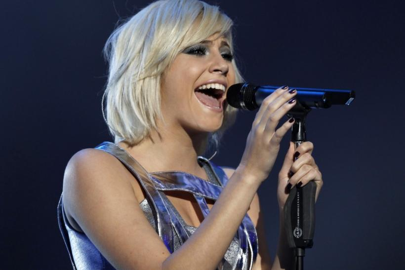 "Pixie Lott performs during the ""Michael Forever"" tribute concert, which honours late pop icon Michael Jackson, at the Millennium Stadium in Cardiff, Wales"