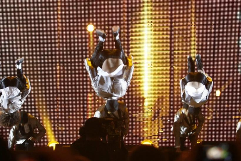 """Diversity"" dance troupe perform during the ""Michael Forever"" tribute concert, which honours late pop icon Michael Jackson, at the Millennium Stadium in Cardiff, Wales"