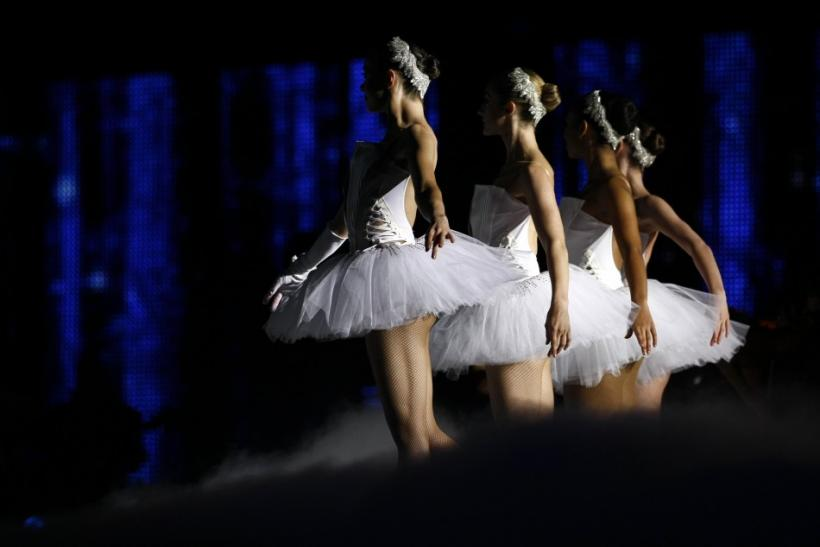 "Ballerinas perform during the ""Michael Forever"" tribute concert, which honours late pop icon Michael Jackson, at the Millennium Stadium in Cardiff, Wales"