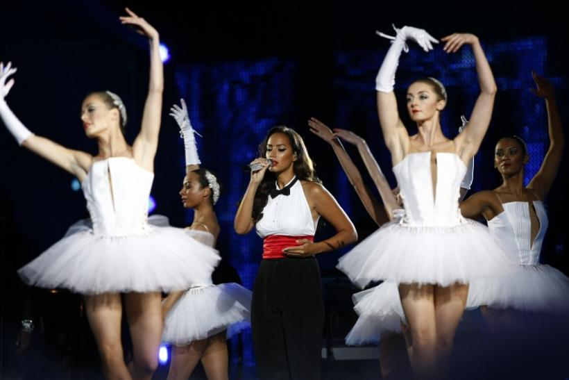 "Leona Lewis performs during the ""Michael Forever"" tribute concert, which honours late pop icon Michael Jackson, at the Millennium Stadium in Cardiff, Wales"