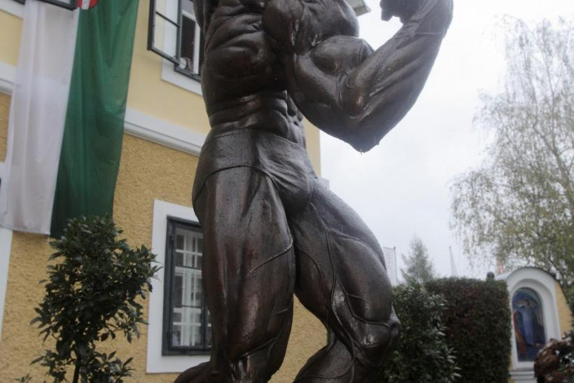 Statue of Schwarzenegger Graces Front of Museum
