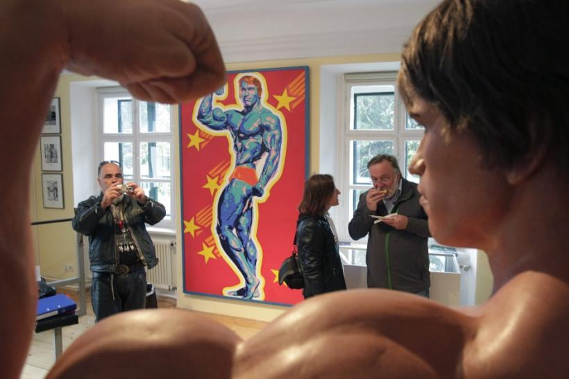 Visitors Take Photographs Inside Arnold Schwarzenegger's Childhood Home