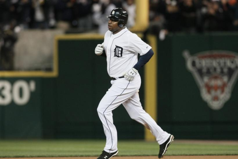 Detroit Tigers' Young runs the bases after hitting a solo home run in the seventh inning against the New York Yankees in Game 3 in their MLB American League Division Series baseball playoffs in Detroit