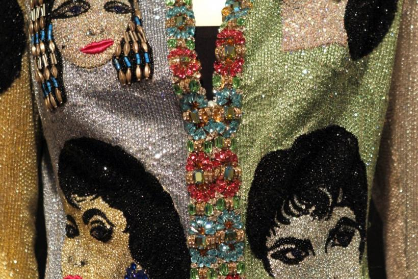 """The Face"" Versace beaded evening jacket."