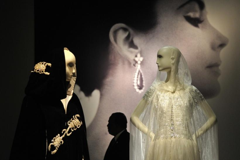 Ballgowns and capes worn by Elizabeth Taylor.