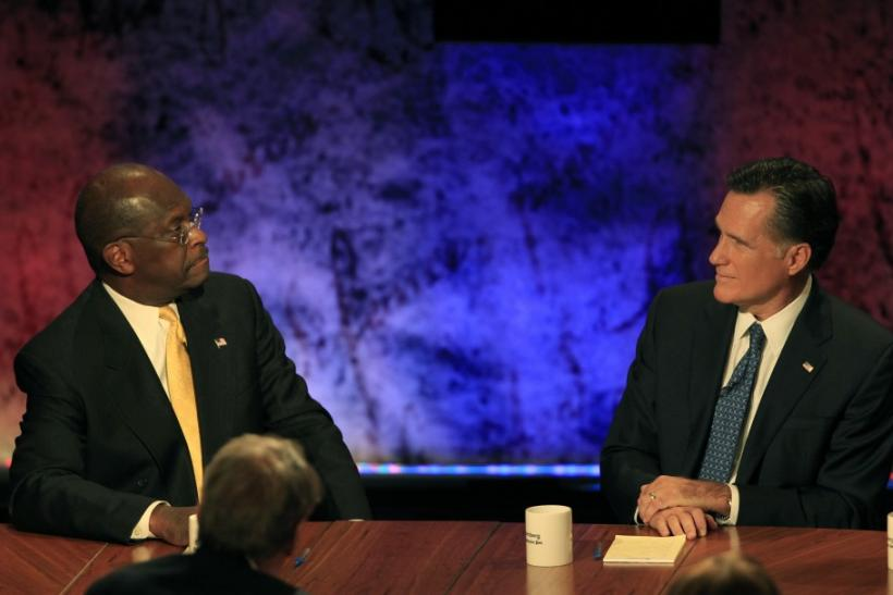 Cain and Romney Staring Contest