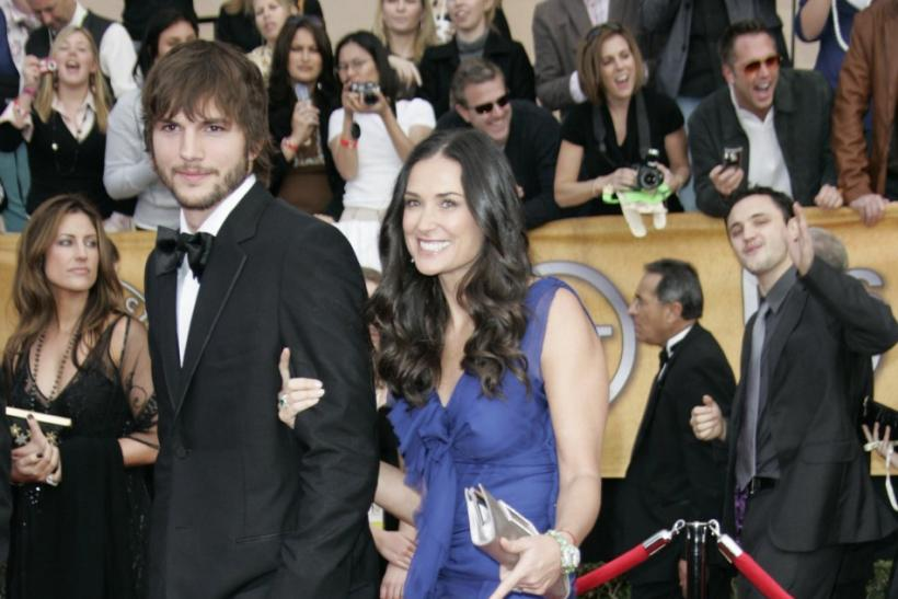 Ashton Kutcher & Demi Moore in 2007