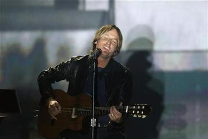 Singer Keith Urban performs ''Without You'' at the 46th annual Academy of Country Music Awards in Las Vegas