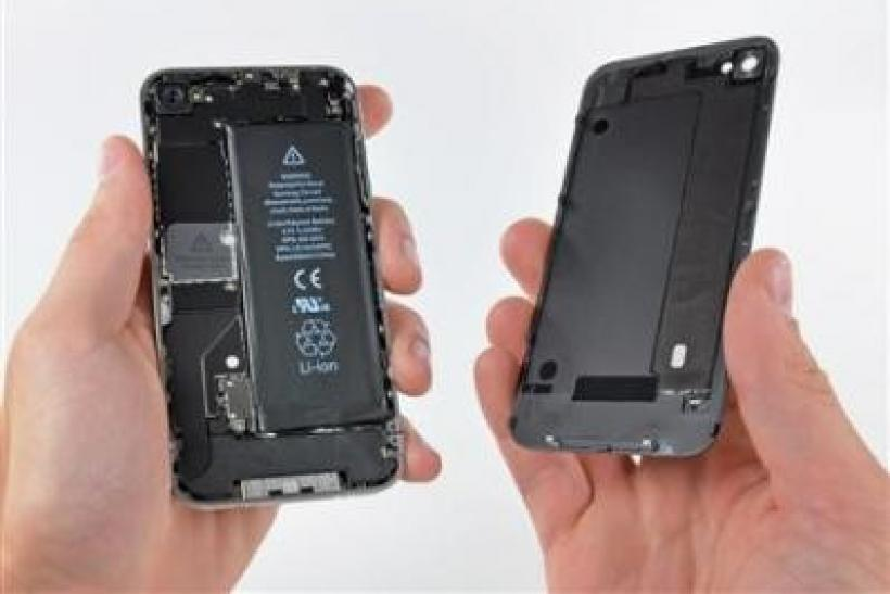 An image from ifixit shows the inner workings of Apple Inc's fifth-generation iPhone.