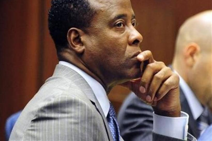Dr. Conrad Murray listens to testimony during his trial in the death of pop star Michael Jackson, in Los Angeles