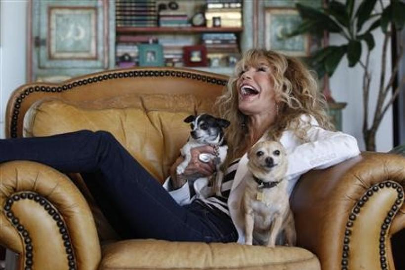 Actress Dyan Cannon poses for a portrait at her home in West Hollywood, California