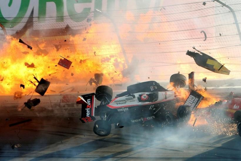 Dan Wheldon Car Crash