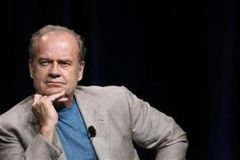 Cast member Kelsey Grammer listens to a reporter's question at the Starz session for ''Boss'' at the Summer Television Critics Association Cable Press Tour in Beverly Hills, California