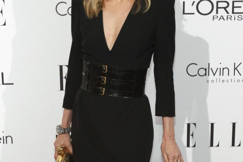 Actress Michelle Pfeiffer poses at Elle's 18th Annual Women in Hollywood Tribute in Los Angeles