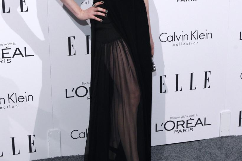 Actress Evan Rachel Wood poses at Elle's 18th Annual Women in Hollywood Tribute in Los Angeles