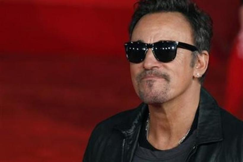 Musician Bruce Springsteen arrives on the red carpet to attend the screening of the film ''The Promise: The Making Of Darkness On The Edge Of Town'' at the Rome Film Festival