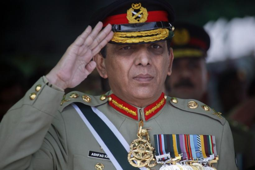 Pakistani Army Chief General salutes while reviewing the passing out parade of newly recruited soldiers during a ceremony in Quetta Pakistan