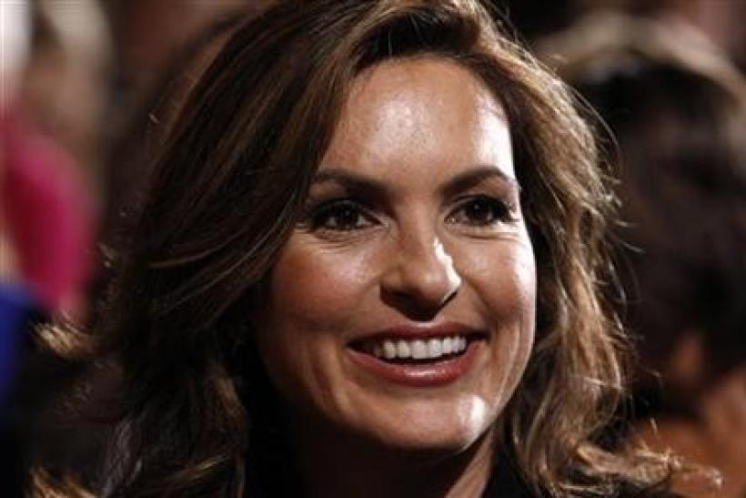 Actress Mariska Hargitay attends an event marking Domestic Violence Awareness Month in the East Room at the White House in Washington