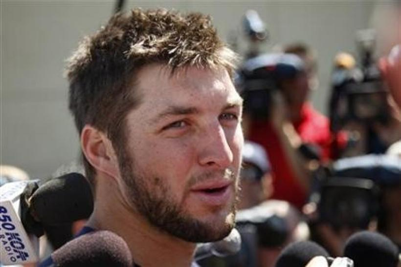 Denver Broncos NFL football second year quarterback Tim Tebow