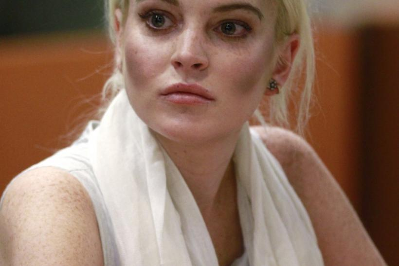 Actress Lindsay Lohan attends a progress report hearing at Airport Branch Courthouse in Los Angeles