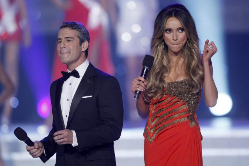 Cohen and Rancic host the 2011 Miss USA pageant in the Theatre for the Performing Arts at Planet Hollywood Hotel and Casino in Las Vegas
