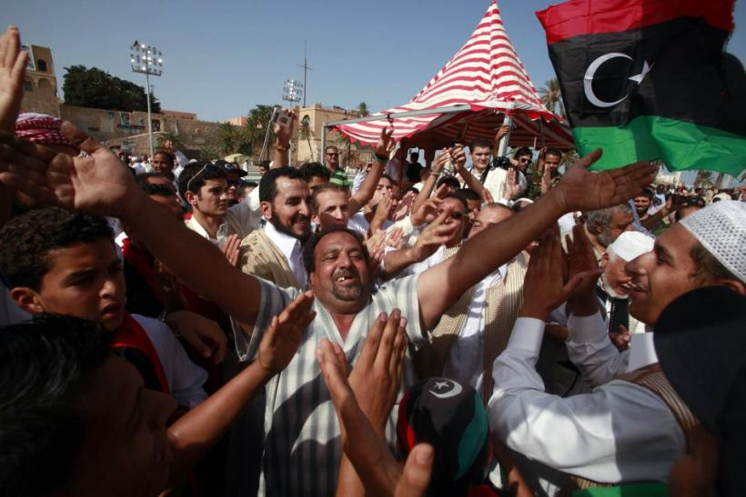 Gadhafi's Death Celebration in Libya