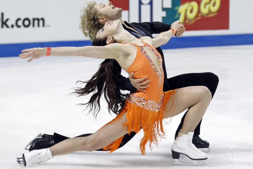 Meryl Davis and Charlie White of the U.S. perform during the Ice Dance Short Dance competition at the Skate America ISU Grand Prix of Figure Skating in Ontario, California