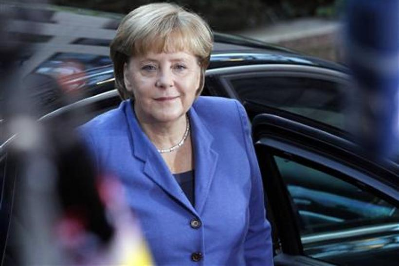 Germany's Chancellor Merkel arrives at the European Union summit in Brussels