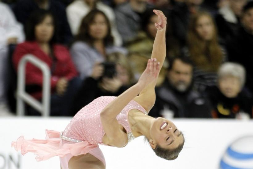 Alissa Czisny of the U.S. performs during the ladies short program at the Skate America ISU Grand Prix of Figure Skating in Ontario, California