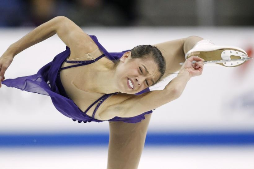 Alissa Czisny of the U.S. performs during the ladies free skating program on her way to finishing first place in the ladies competition at the Skate America ISU Grand Prix of Figure Skating in Ontario, California