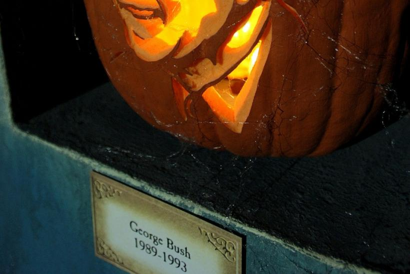 George H.W. Bush pumpkin