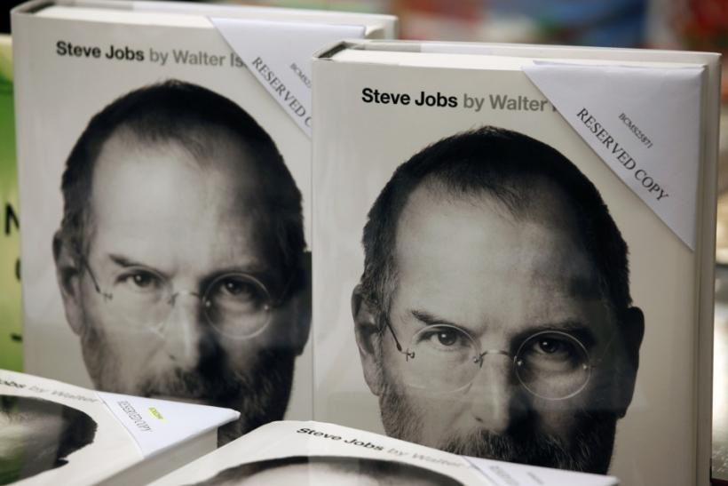 Copies of Steve Jobs' biography.