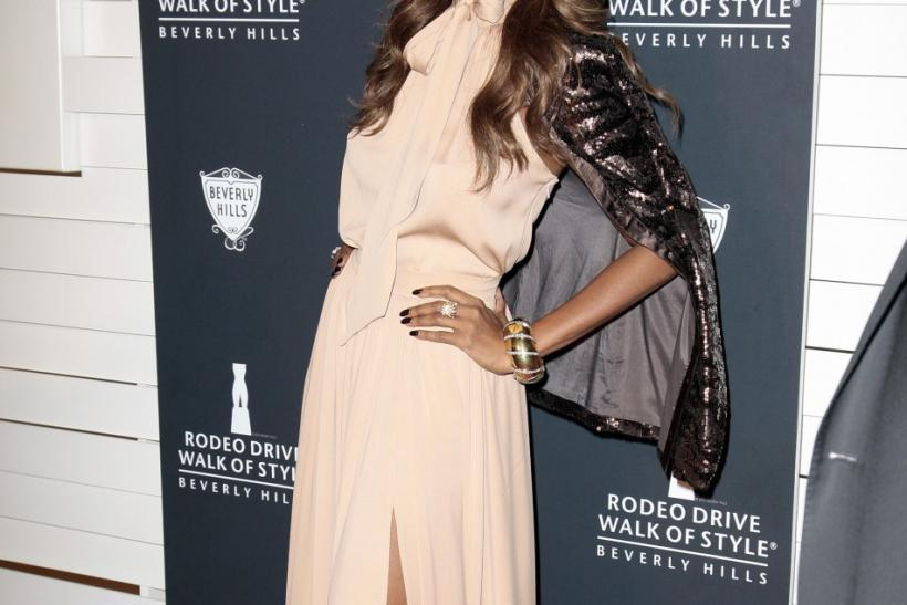 Somali-American fashion model and actress Iman arrives at the Rodeo Drive Walk of Style Award honoring Iman and Missoni in Beverly Hills, California
