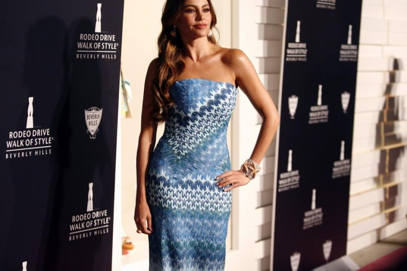 Colombian actress Sofia Vergara arrives at the Rodeo Drive Walk of Style Award honoring Iman and Missoni in Beverly Hills, California