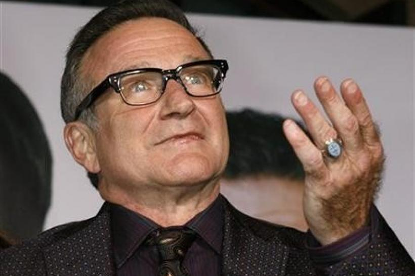 Actor Robin Williams, star of the new film ''Old Dogs'', arrives at the film's premiere in Hollywood, California