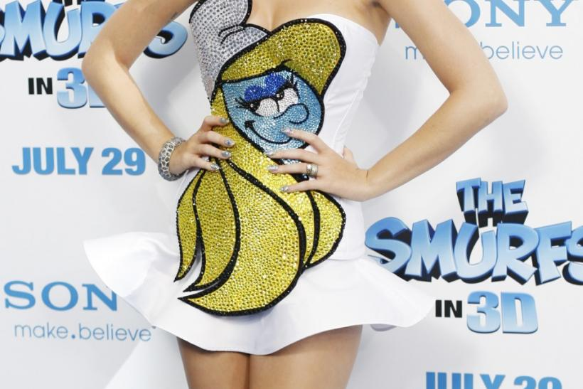 "U.S. singer Katy Perry attends the premiere of ""The Smurfs"" in New York"
