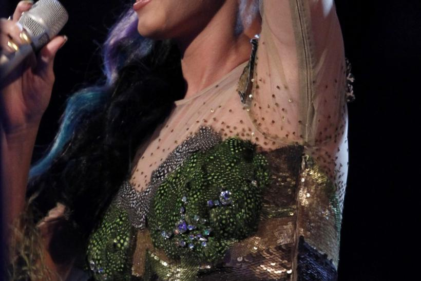 Katy Perry accepts the award for Best Video at the MTV Europe Music Awards 2010 in Madrid