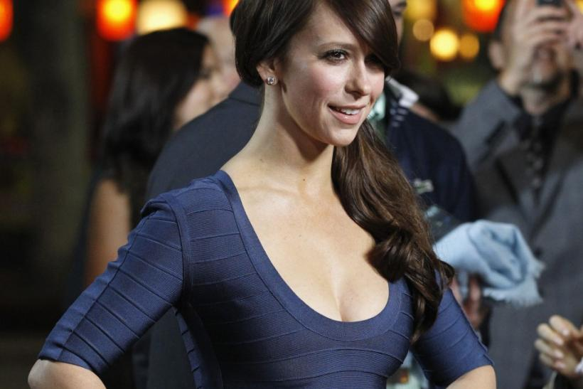 "Actress Jennifer Love Hewitt poses at the premiere of ""Like Crazy"" at the Egyptian theatre in Hollywood, California"