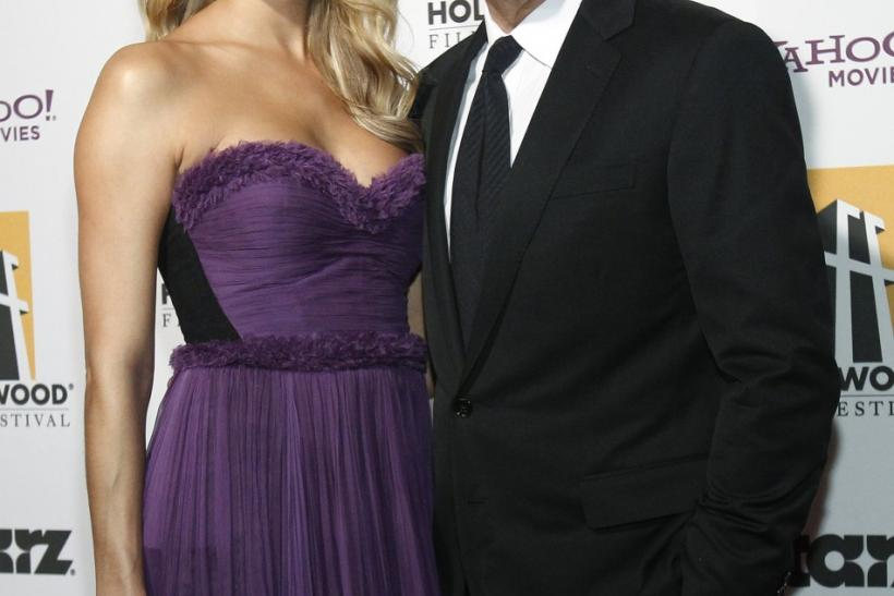 Clooney and Keibler pose at the 15th Annual Hollywood Awards Gala in Beverly Hills